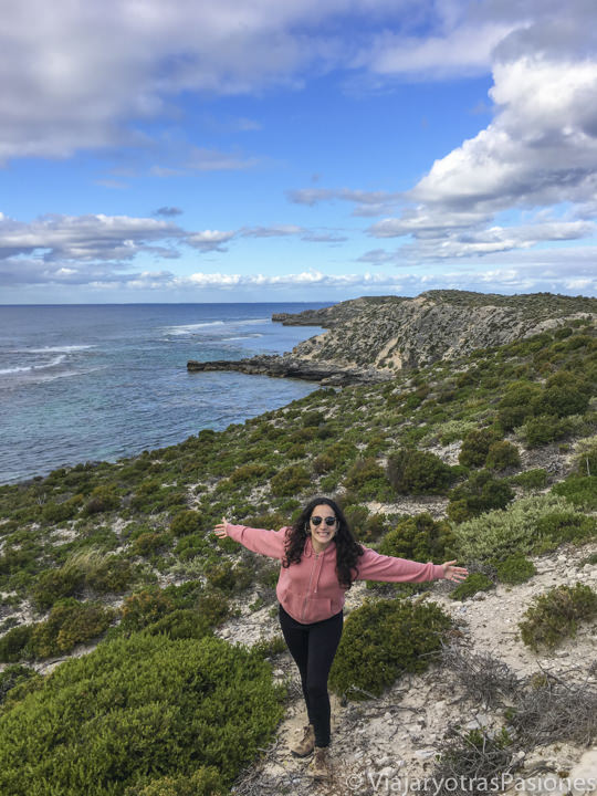 Alegra cerca de la costa de Rottnest Island en Western Australia