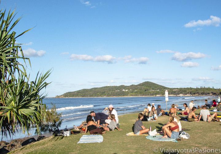 Disfrutando el clima en Byron Bay, Australia