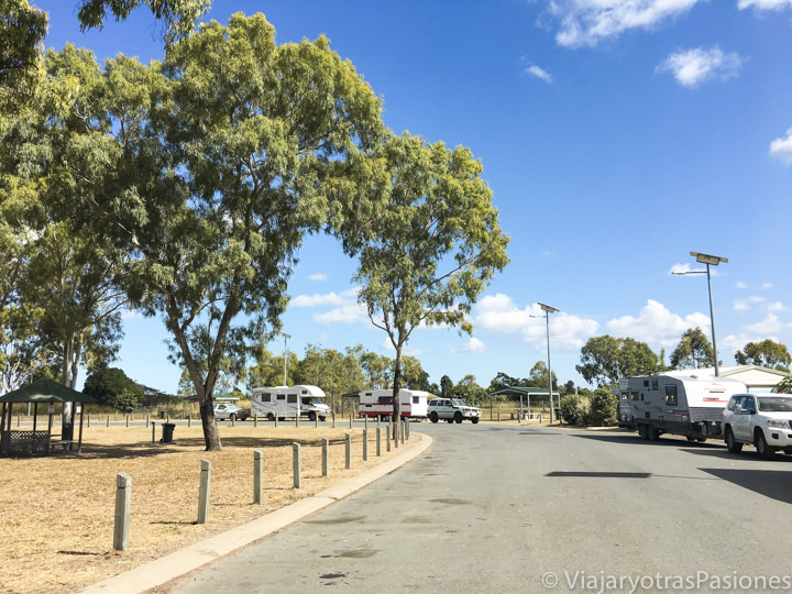Típica area de descanso gratuita en Australia