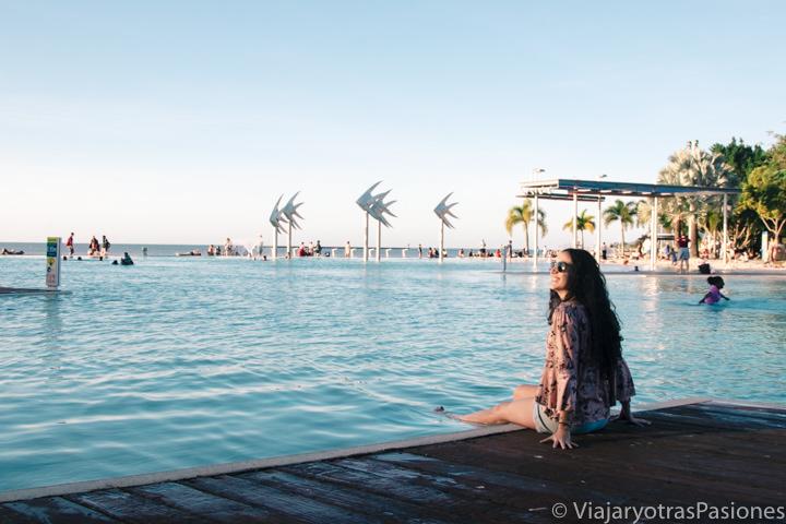 Atardecer en la hermosa Lagoon de Cairns, en Australia