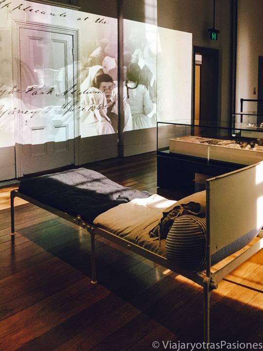 Exposición en el interior del Hyde Park Barracks en Sydney, Australia