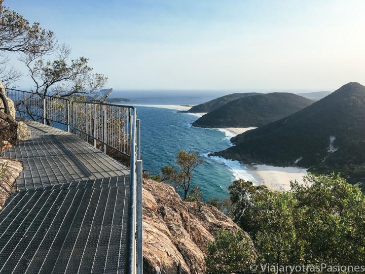 Maravilloso panorama desde el Tomaree Head Summit Walk en Port Stephens, Australia