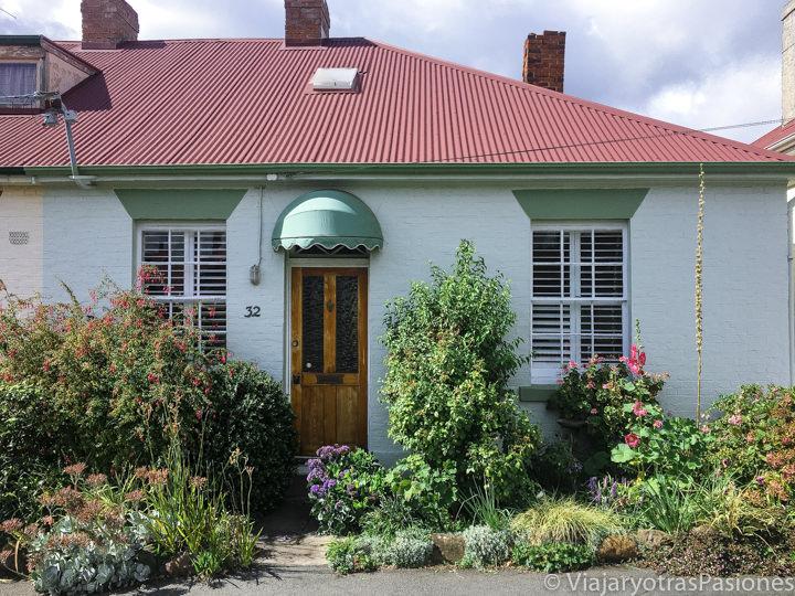 Preciosa casita en el barrio de Battery Point en el centro de Hobart, Australia