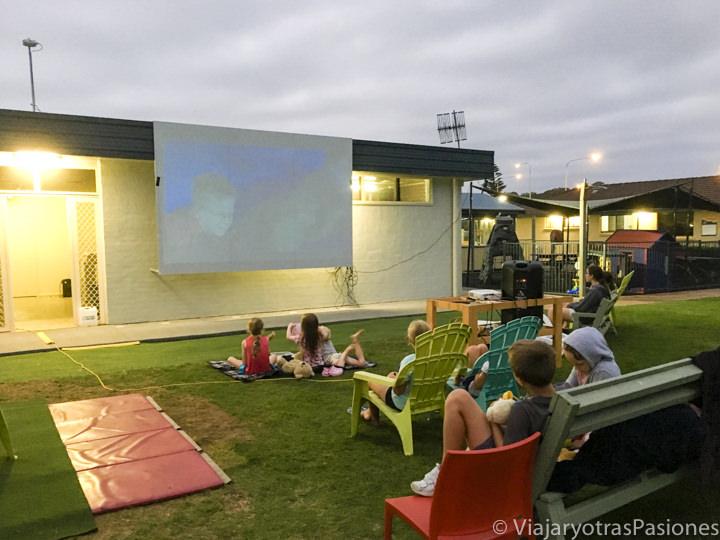 Cine al aire libre en Burrill Lake, Australia