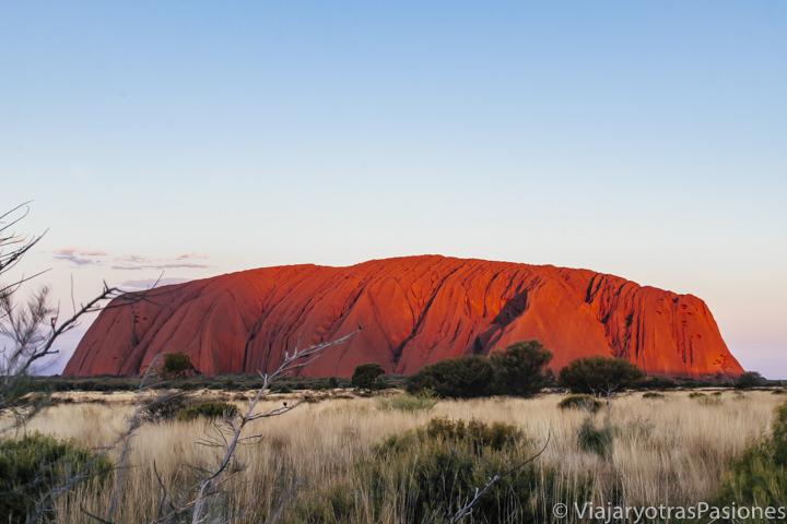En visitar Uluru esta es la foto clásica del atardecer en Central Australia