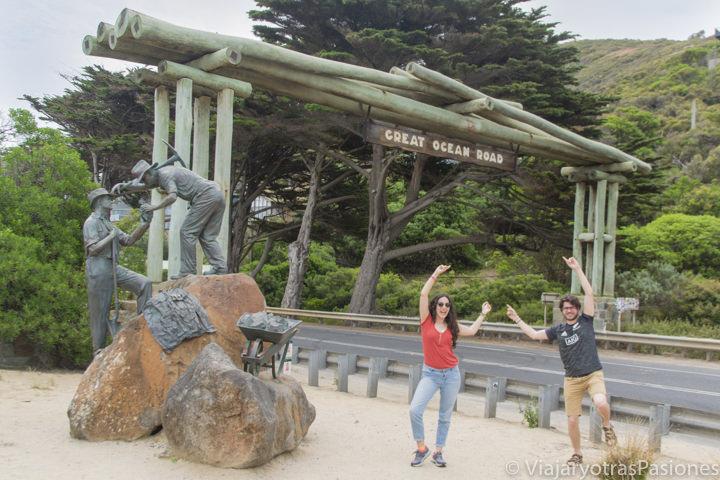 Arco memorial de los trabajadores de la Great Ocean Road en Australia