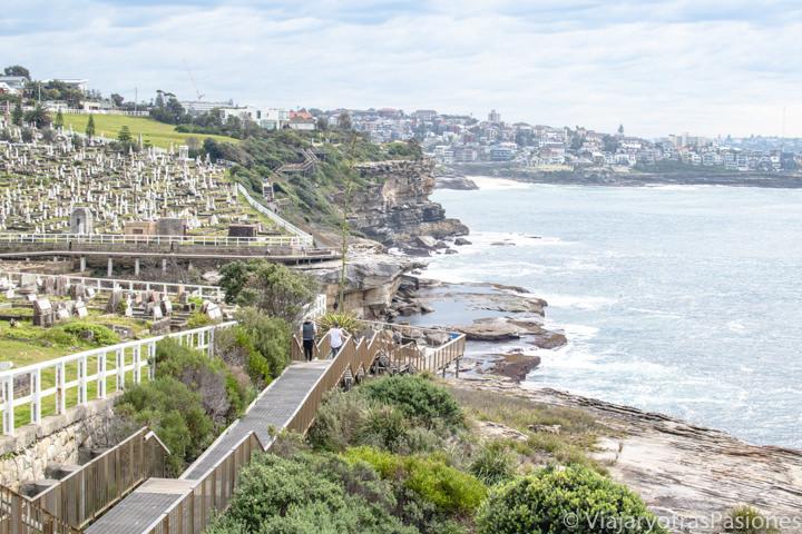 Tramo del famoso Costal Walk entre Bondi y Coogee en Sydney, Australia