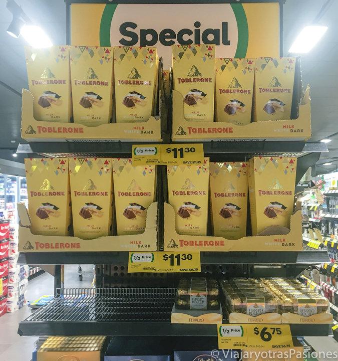 Rebajas en un supermercado por Navidad en Australia