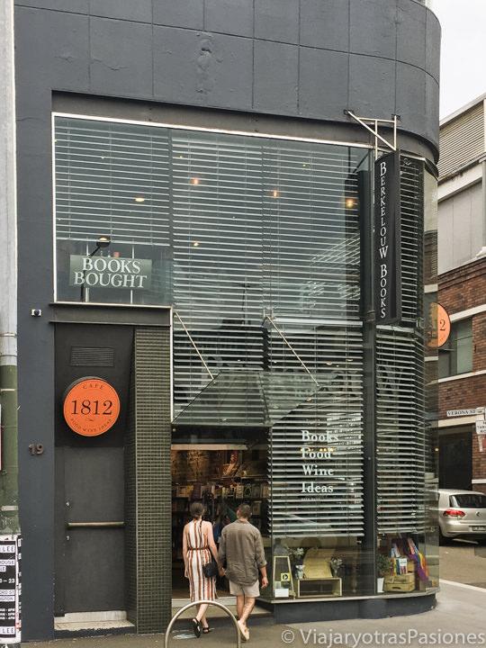 Entrada de la librería Berkelouw en el barrio e Paddington en Sydney, Australia