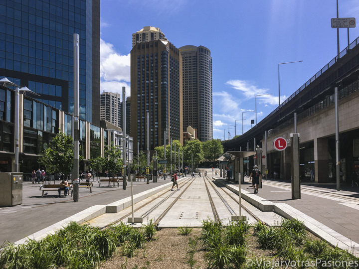 Nueva estación del tranvía en Circular Quay en Sydney, Australia