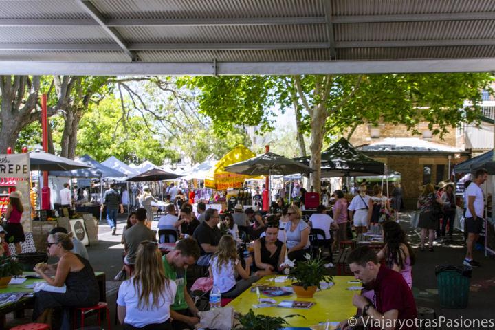 Típico food court del mercado de Paddington en Sydney, Australia