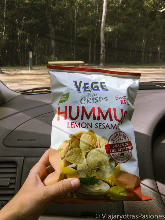 Característica bolsa de healthy snack en Australia