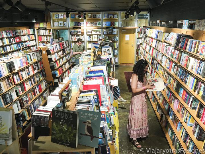 Bonito interior de una librería en Sydney, Australia