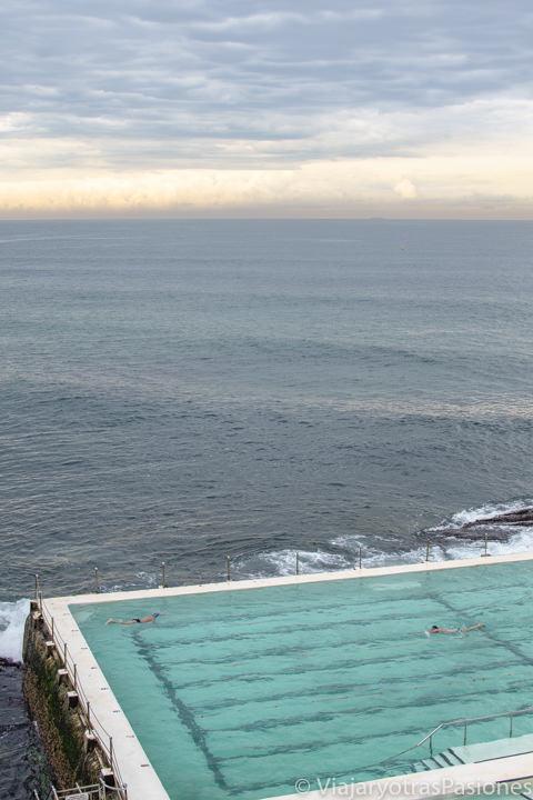 Increíble luz en el océano frente a la Icerberg Pool en Bondi, Sydney