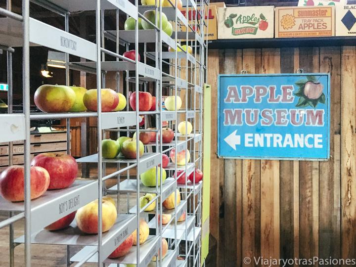 Entrada del apple museum en la Huon Valley, Tasmania