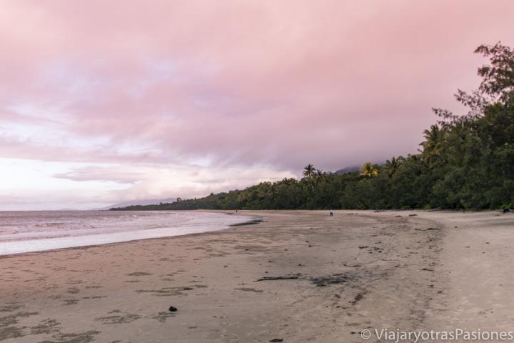 Espectacular atardecer en Myall Beach, en cape Tribulation Australia