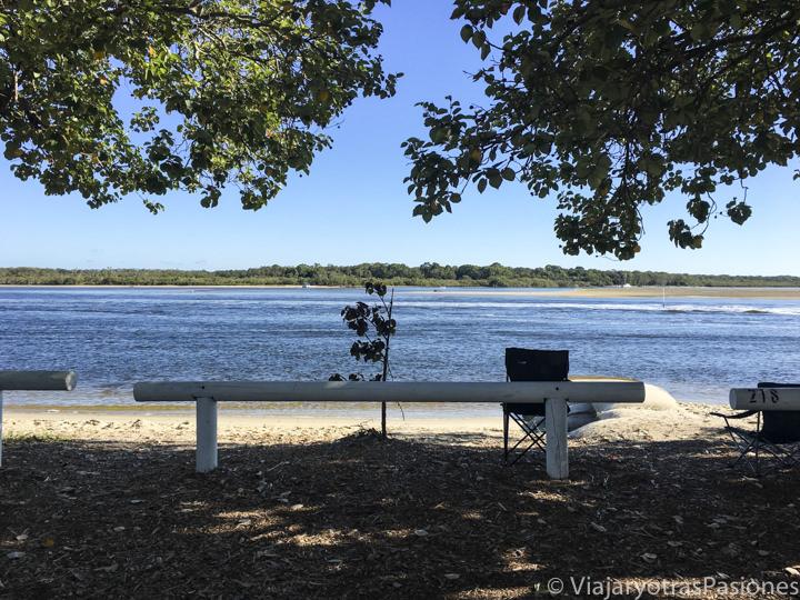 Vista desde un camping en Noosa, Australia