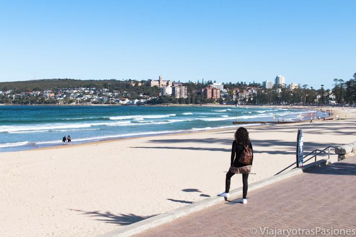 Atardecer en la famosa playa de Manly en Sydney, Australia