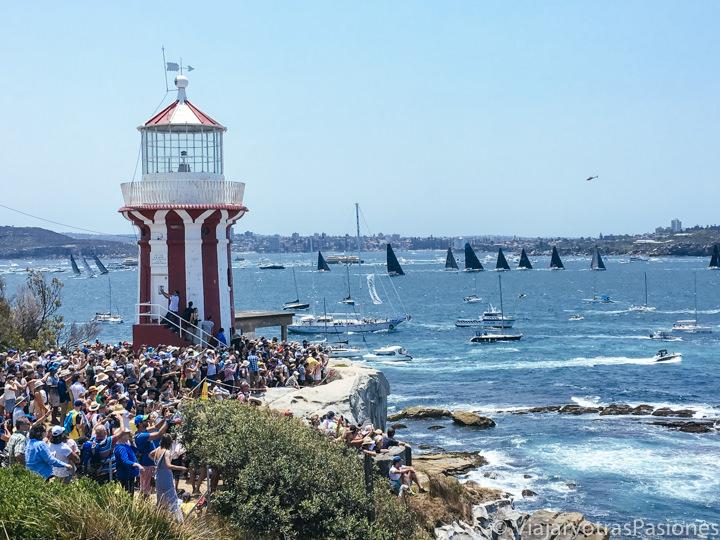 Increíble panorama por la famosa regata Sydney-Hobart por Boxing Day, en Australia