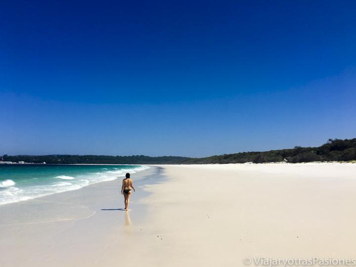 La increíble Hyams Beach y su famosa arena blanca en Jervis Bay, en Australia
