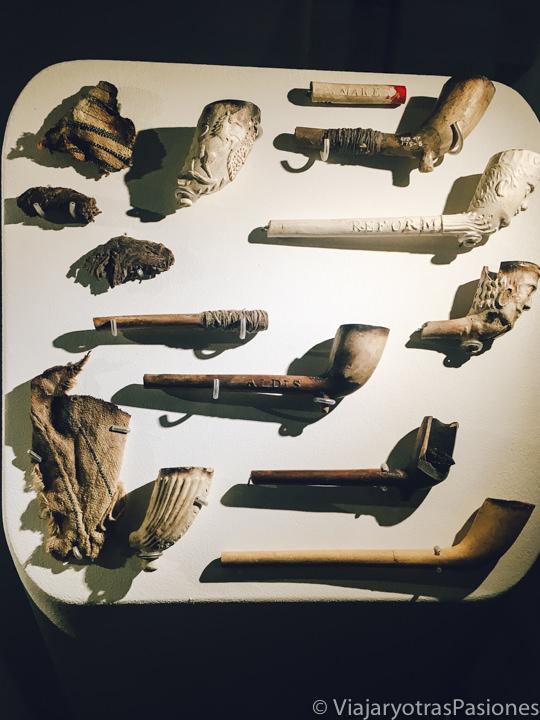 Antiguas pipas en el museo de Hyde Park Barracks en el centro de Sydney an Australia