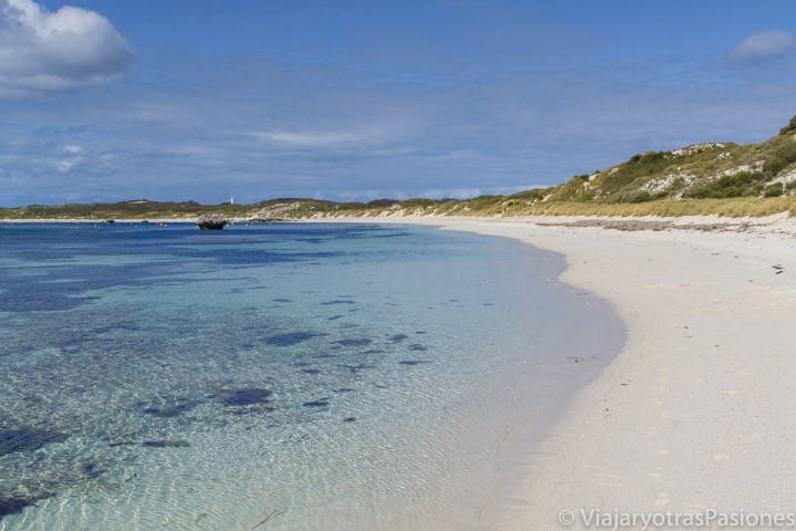 Paradisiaca playa en Rottnest Island en el viaje a Perth y Western Australia