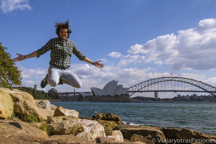 Panorama de la famosa bahía de Sydney, Australia