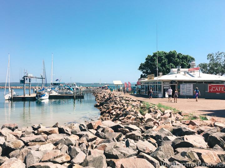 Vista del embarcadero de Nelson Bay en Australia