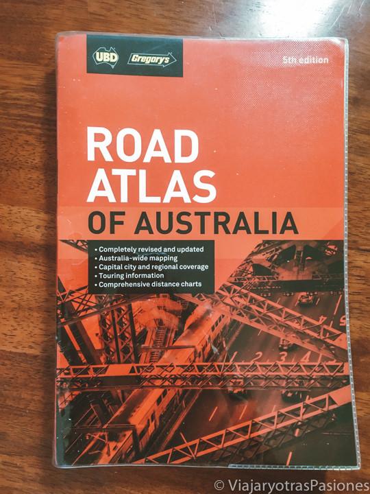 Portada del Road Atlas de Australia