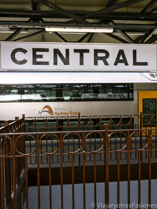 Interior de la estación central de Sydney, Australia