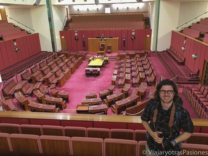 Interior del Parlamento australiano en Canberra