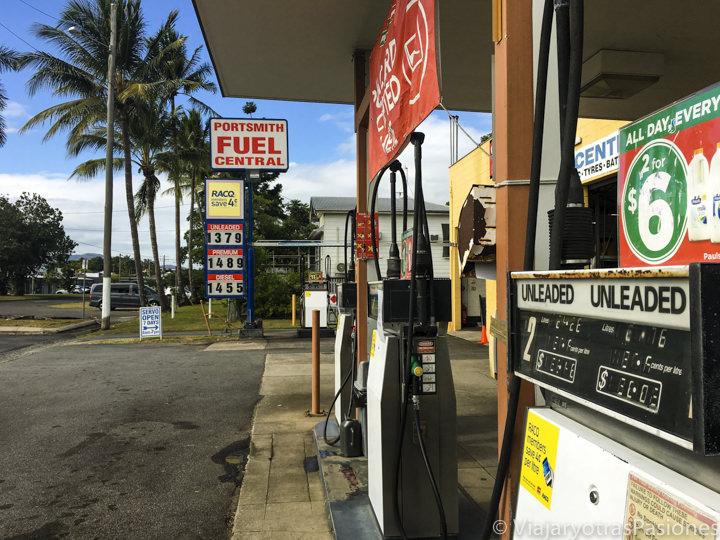 Típica gasolinera en la campaña australiana