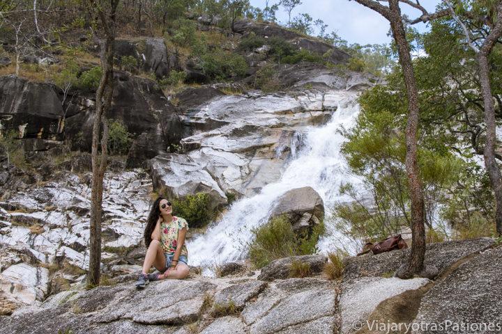 panorama de la Emerald Creek Falls, en los alrededores de Cairns en Queensland, Australia