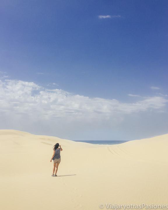 Increíble panorama en las dunas de Stockton en Port Stephens, Australia