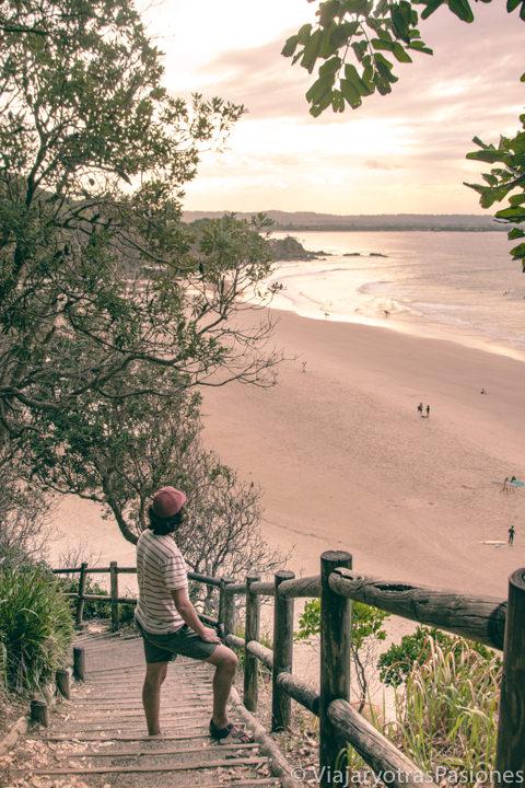 Espectacular atardecer desde el Cape Byron Track en Byron Bay, Australia