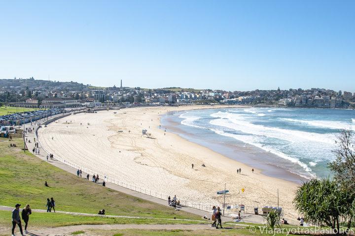 Espectacular panorama de la famosa playa de Bondi Beach en Sydney, Australia