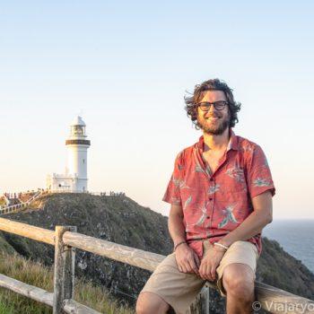 Panorama y atardecer cerca del famoso faro de Byron Bay, Australia